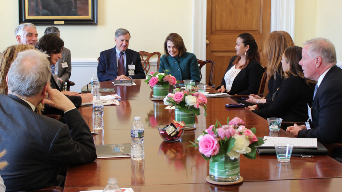 The San Francisco Chamber of Commerce meets with Leader Pelosi